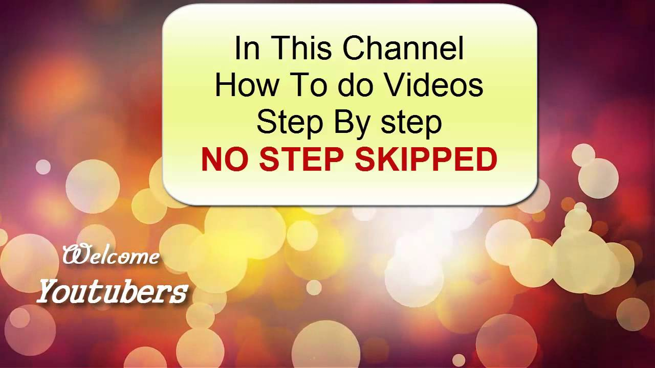 HOW TO DO VIDEOS Channel trailer