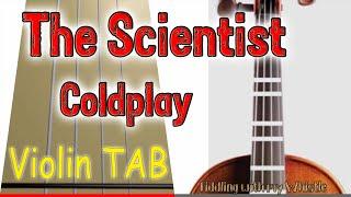The Scientist - Coldplay - Violin - Play Along Tab Tutorial