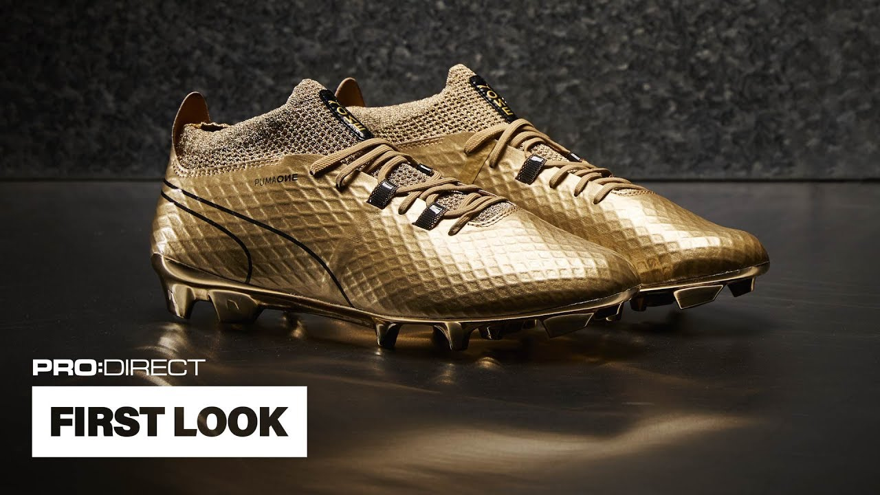 FIRST LOOK: PUMA One Gold - YouTube