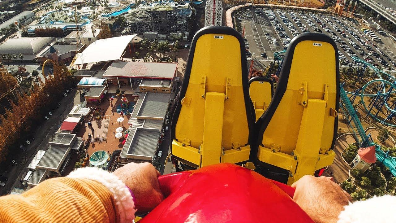 أخطر مدينة ألعاب في العالم !!  Ultra Twister Roller Coaster