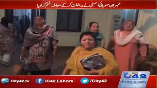 Collapse between PMLQ and PMLN women workers