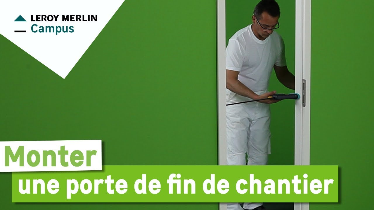Comment poser une porte de fin de chantier youtube for Poser une porte en renovation