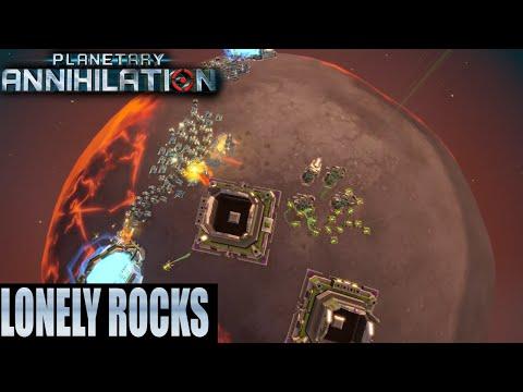 Planetary Annihilation 2v2v2 Team Game - Lonely Rocks
