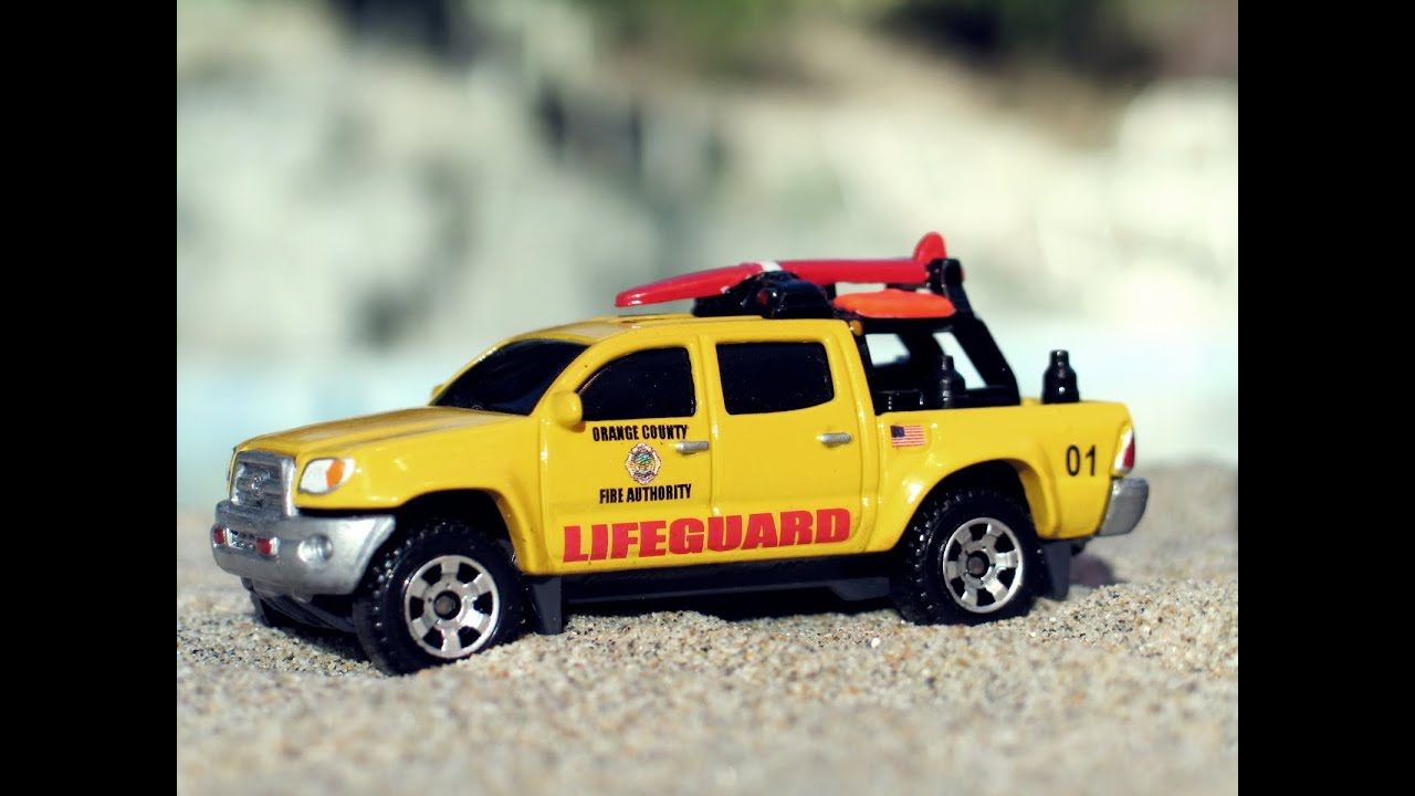 2014 Toyota Tacoma >> Matchbox Toyota Tacoma/ 4Runner Lifeguard Customs (OCFA) - YouTube