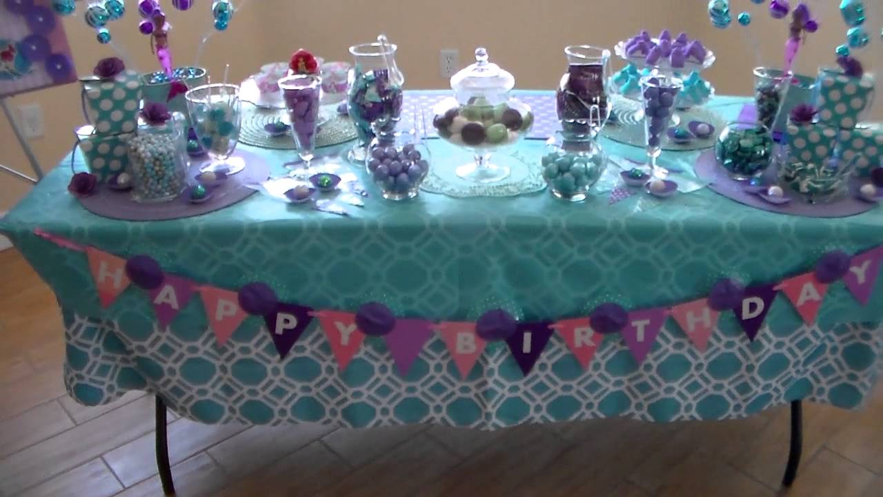 Little Mermaid Party Decor Ideas Little Mermaid