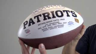 Wes Welker Signed New England Patriots Logo Ball - SM Holo