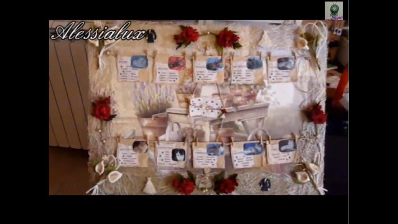 Famoso DIY -tutorial tableau matrimonio fai da te + segnatavoli o  ZU36