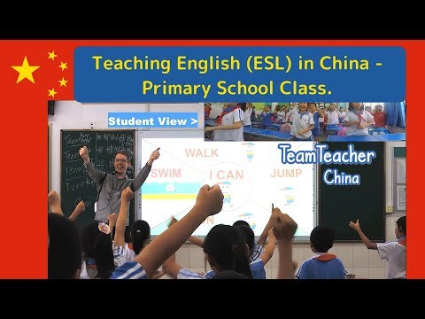 A Complete Lesson for Teaching English in China; 40 Minute Primary School Class. Shenzhen 深圳 , 中国