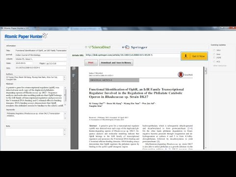 Download articles from sciencedirect and springer for free - atomic paper hunter v3.0