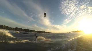 Kiteboarding in a secret sunny spot