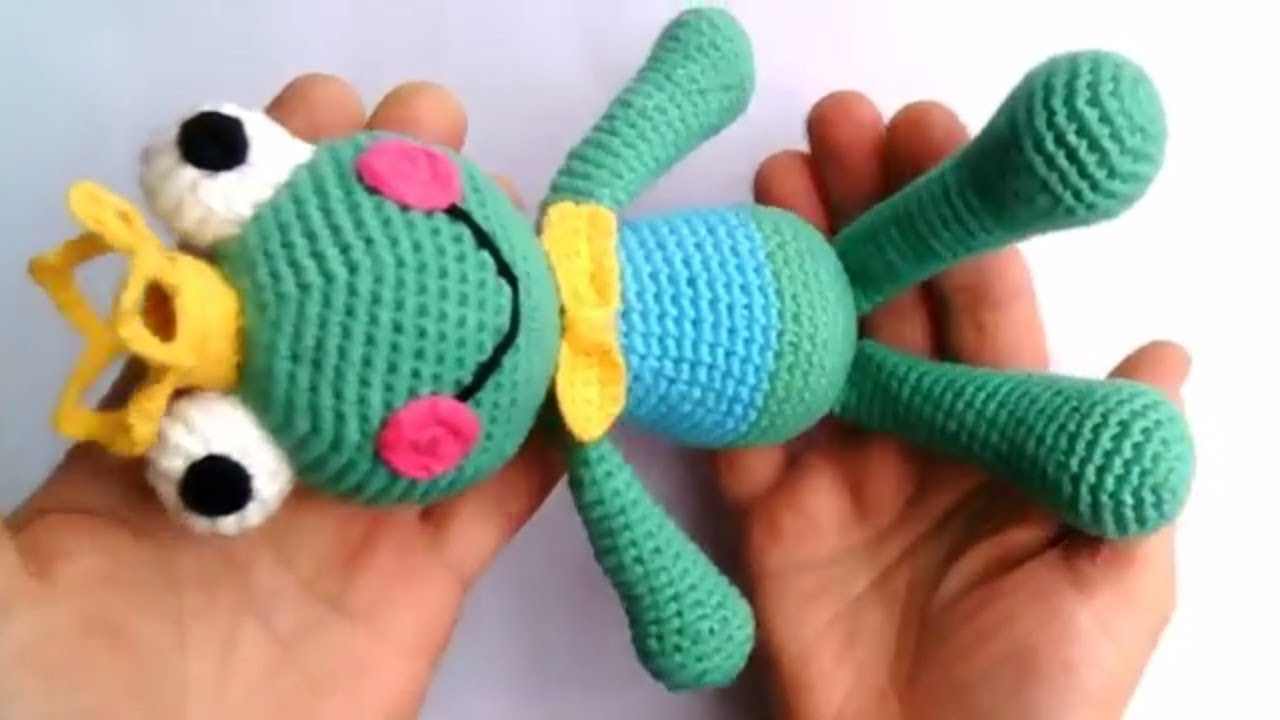 amigurumi kurbağa prens yapımı birleştirme amigurumi  frog prince  making combining -9