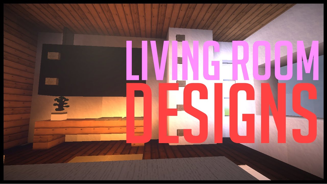 minecraft modern designs - lounge/living rooms (w/ christmas