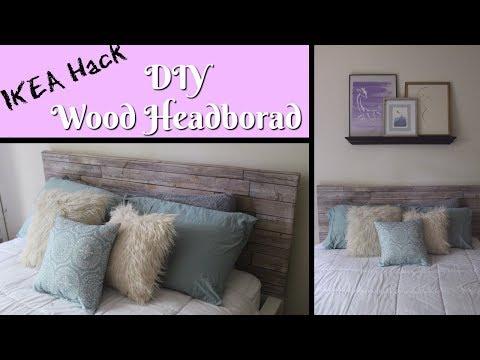 | Ikea Hack | DIY Faux Wood Headboard