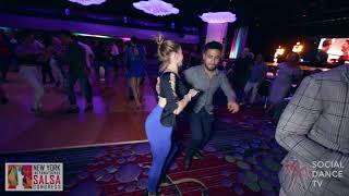 Justin & Lady - Salsa Social Dancing | New York International Salsa Congress 2018