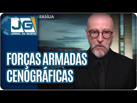 Josias de Souza/No Rio, Forças Armadas cenográficas