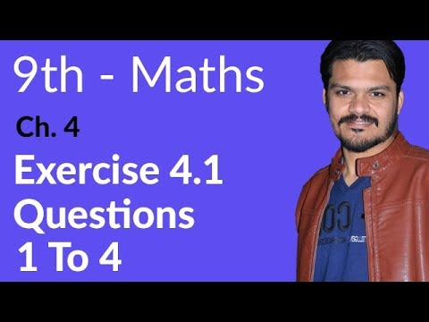 Mathematics Exercise 4.1 Q no 1 to 4 -Math Ch 4 Algebraic Expressions & Algebraic Formulas-9th Class