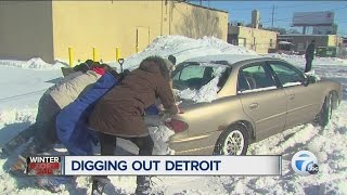 Helping Detroiters dig out after the snowstorm
