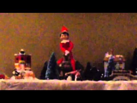Elf On The Shelf Caught Moving And Flying On Tape Youtube