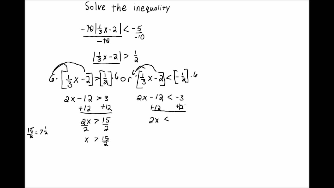 Solving Absolute Value Inequalities 3 - YouTube