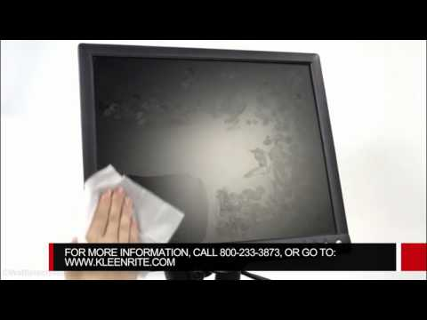 How to clean LCD screen with screen cleaning wipes
