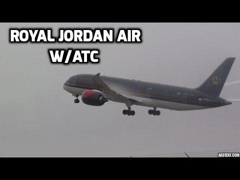 Royal Jordan Air 787 Landing Taxi And Takeoff At Montreal(w/ATC)