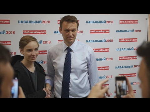 On the campaign trail with Russian opposition leader Navalny