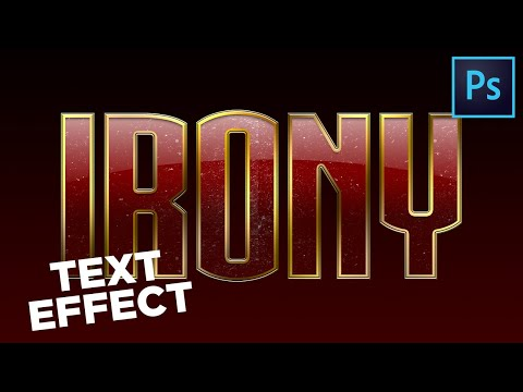 How to Create IRON MAN 3 Text-Effect || Photoshop-Tutorial thumbnail