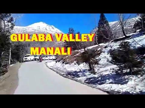 Gulaba Valley ice point  at Manali  , Himachal