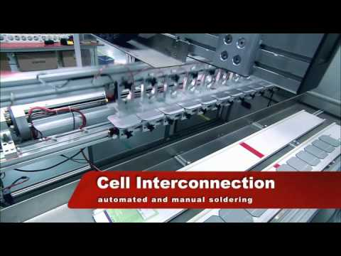 solar cell manufacturing and solar panel production by suntech
