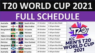 ICC T20 World Cup 2021 Schedule Time Table | T20 World Cup 2021 | world  cup |  aaa facts info