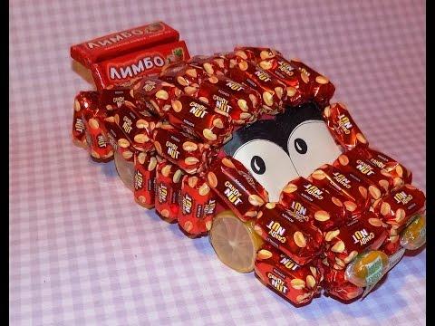 Мастер-класс Машинка из конфет. Тачки 2 / DIY: Car of sweets