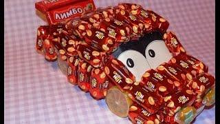 как сделать машинку из конфет