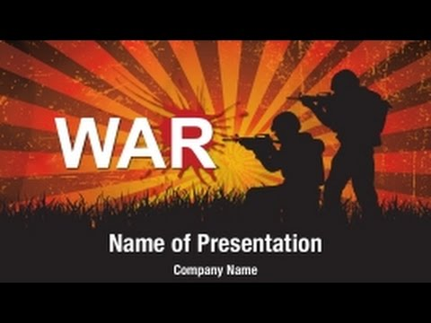 soldiers at war powerpoint video template backgrounds, Power Point Presentation Template War, Presentation templates