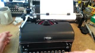 Royal KMM typewriter - introduction & how to use