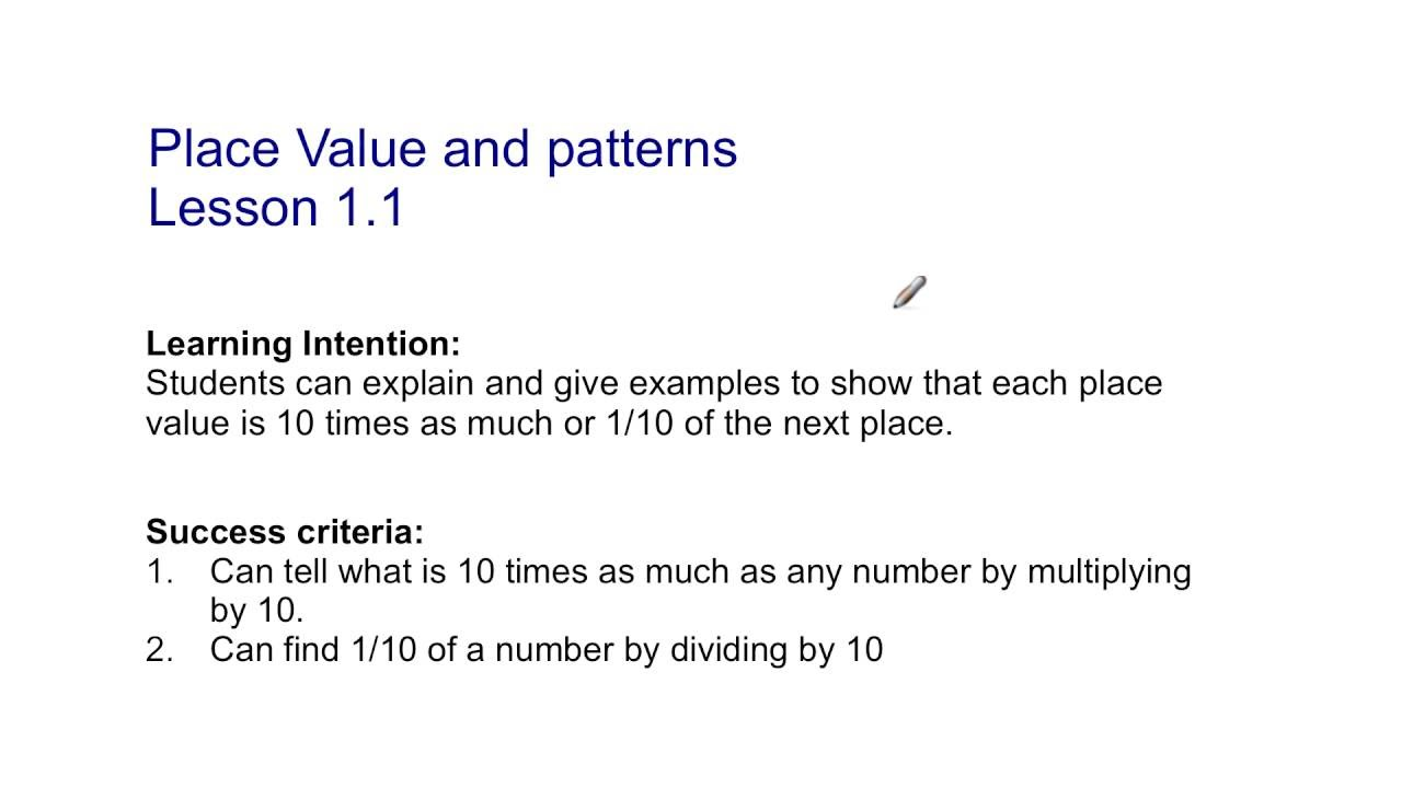Place Value And Patterns Lesson 11 Simple Decorating