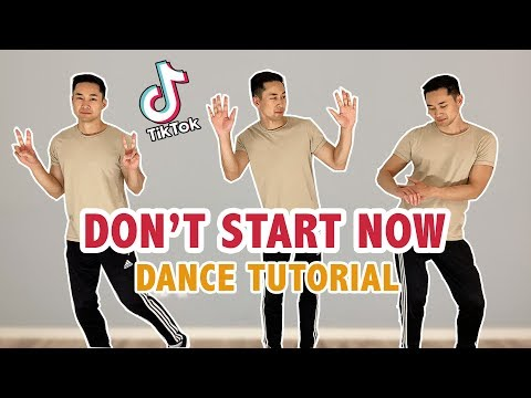 DUA LIPA - DON'T START NOW TIK TOK DANCE TUTORIAL (Step By Step)