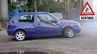Auto zerstören mit Druckluft - Golfball vs. Golf 3| Dumm Tüch