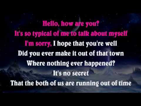 Adele - Hello Lyrics Lower Key Piano Karaoke Instrumental Lyrics Cover Sing Along