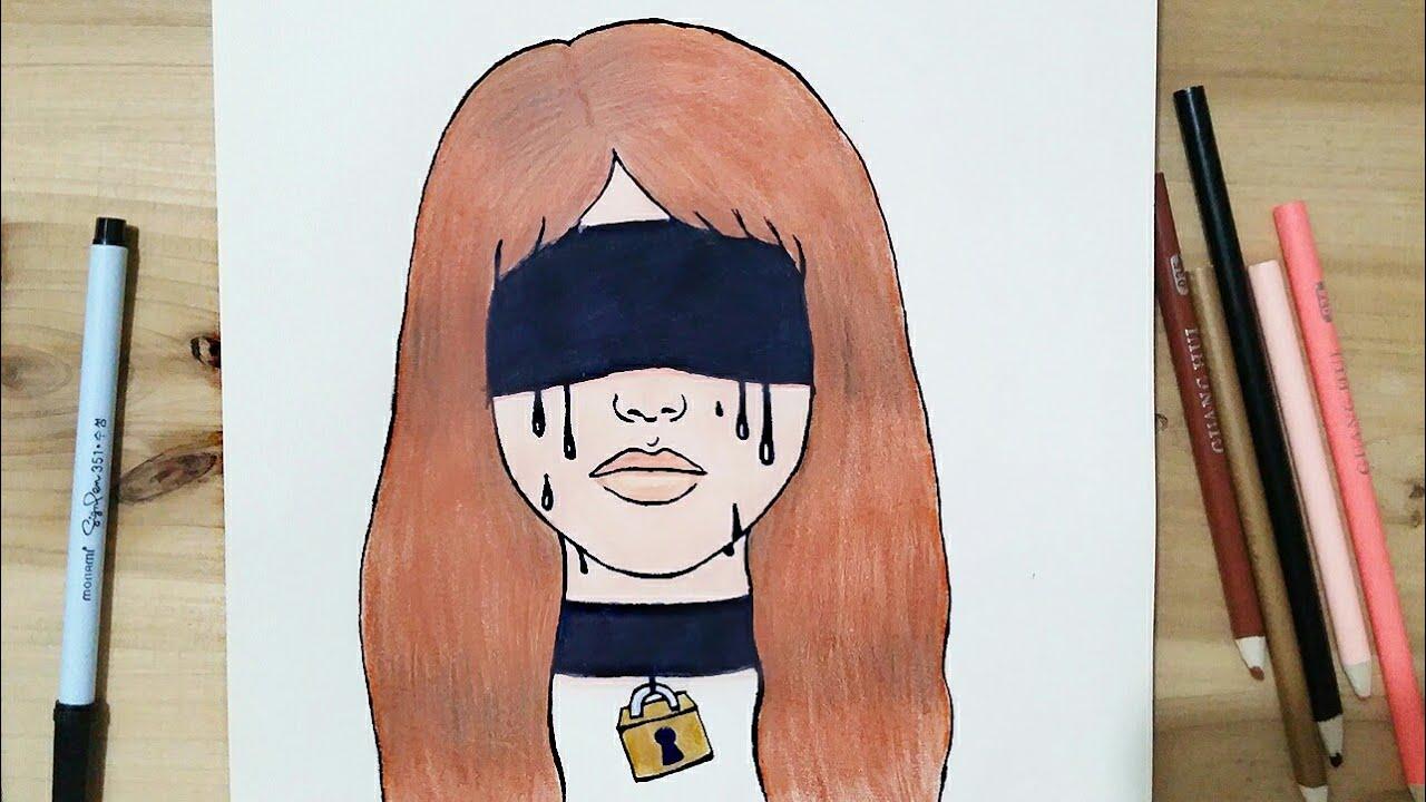 رسم سهل تعليم رسم بنت حزينة سهل بطريقة سهلة وبسيطة رسم بنات