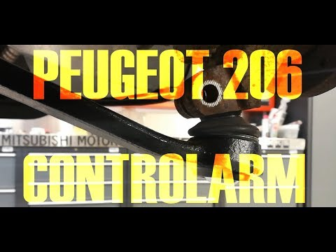 PEUGEOT 206 – CONTROLARM / WISHBONE / BALL JOINT REPLACEMENT [HOW TO]