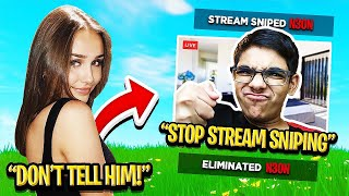 Girlfriend Stream Sniped my Crazy Cousin until HE BROKE UP WITH HER!