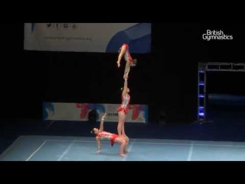 GOLD - Oxford - Womens Trio - Senior - 2015 Acrobatic Gymnastics British Championships