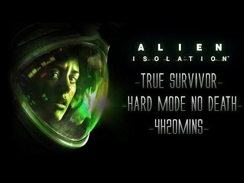 Alien Isolation - True Survivor - Hard Mode No Death Speedrun [One Shot Trophy] [4h20mins]
