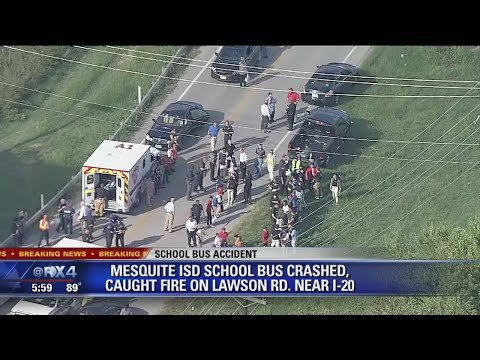 Mesquite students on bus involved in rollover accident