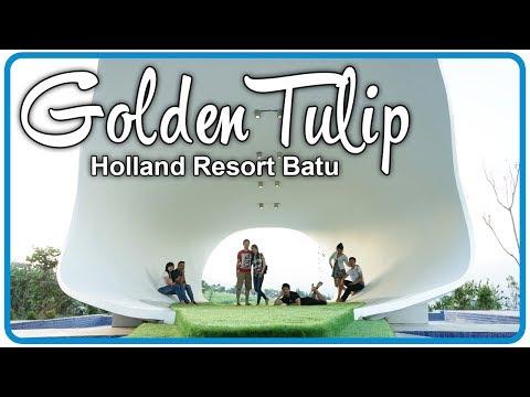 Bunga Tulip Raksasa di Golden Tulip Holland Resort Batu