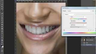 Урок фотошоп. Как сделать белые зубы