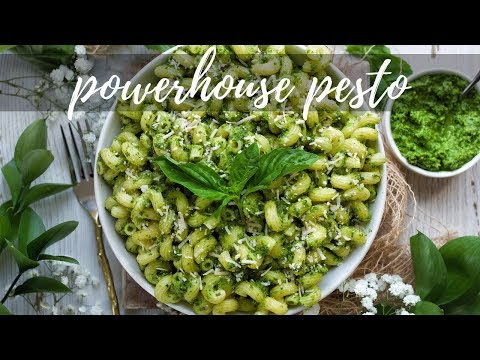 POWERHOUSE PESTO [NUT FREE, HEALTHY AND FULL OF GREENS] | PLANTIFULLY BASED