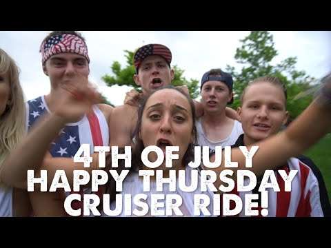 Fourth of July Happy Thursday Cruiser Ride in Boulder Colorado