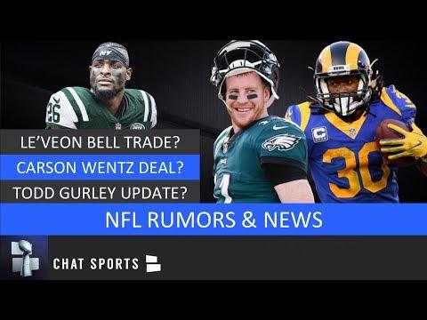 NFL Rumors: Le'Veon Bell Trade Carson Wentz Contract Todd Gurley News & Patrick Mahomes 2019 MVP