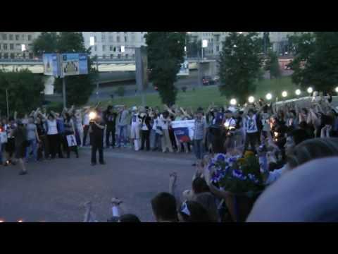 Акция памяти Майкла Джексона 25 июня 2010 г. - Кт Космос - Cry